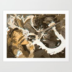 Folk vs. Metal Art Print