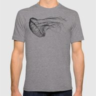 Medusozoa Mens Fitted Tee Athletic Grey SMALL