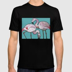 Flamingos SMALL Black Mens Fitted Tee