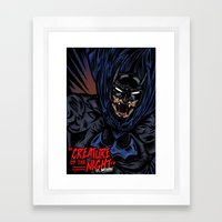 Creature Of The Night Framed Art Print