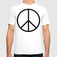 CND Peace Symbol Mens Fitted Tee White SMALL