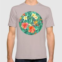 Classic Tropical Garden Mens Fitted Tee Cinder SMALL