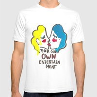 we are lesbians for our own entertainment Mens Fitted Tee White SMALL
