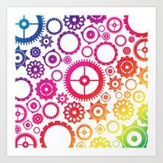Color Cogs. Art Print