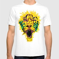 Hannibal Tripped Mens Fitted Tee White SMALL