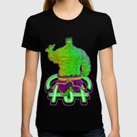 Incredible Hulk Womens Fitted Tee Black SMALL