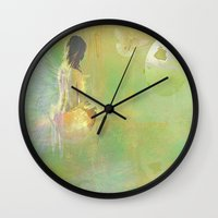 The Angel And The Dove O… Wall Clock