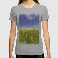 Yellow Fields Of Summer Art Womens Fitted Tee Athletic Grey SMALL