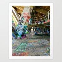 Graffiti Hall Art Print