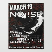 Show Flyer, 3/19/12 (NOi… Canvas Print