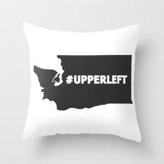 #Upperleft Gray Throw Pillow