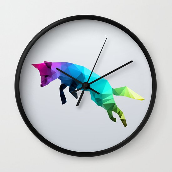 Glass Animal - Flying Fox Wall Clock
