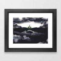 The Landing A Zebes Surrealism Framed Art Print