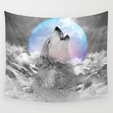 Maybe the Wolf Is In Love with the Moon / Unrequited Love Wall Tapestry