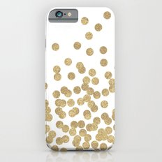 Gold Glitter Dots In Sca… iPhone 6 Slim Case