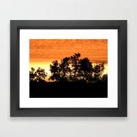 sunset // iowa Framed Art Print
