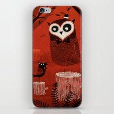 La Chouette et le Corbeau iPhone & iPod Skin