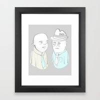 News Reporters Staring Contest Framed Art Print