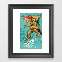 Monster Runner Framed Art Print