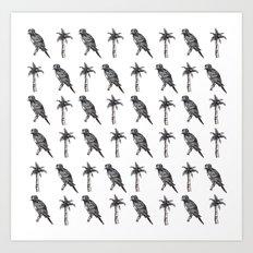 Palms and Parrots Art Print