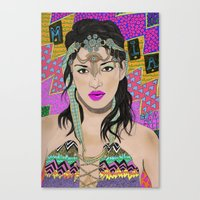Bad Girl Canvas Print