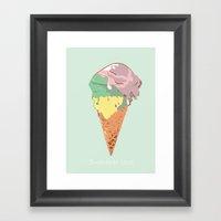 Summer kiss Framed Art Print