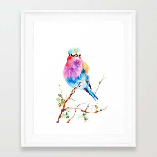 Little Robin Red Breast Framed Art Print