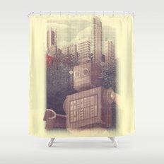 A City Snow-Bot Shower Curtain