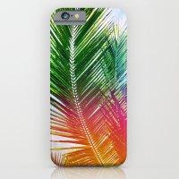 Neon Rainbow palm iPhone 6 Slim Case