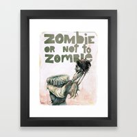 Zombie + Shakespeare Framed Art Print
