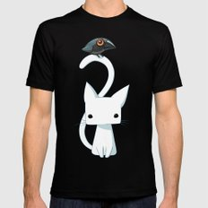 Cat and Raven MEDIUM Black Mens Fitted Tee