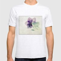 hydrangea Mens Fitted Tee Ash Grey SMALL