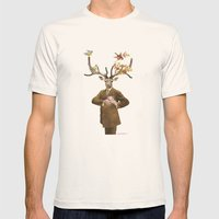 Monsieur Le Cerf Mens Fitted Tee Natural SMALL