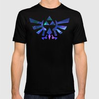 The Legend Of Zelda Trif… Mens Fitted Tee Black SMALL
