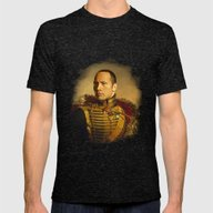 Dwayne (The Rock) Johnso… Mens Fitted Tee Tri-Black SMALL