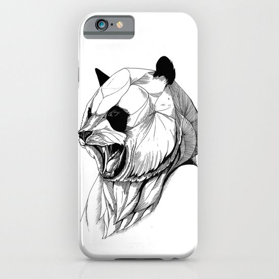 Angry panda (black stroke version for t-shirts) iPhone & iPod Case