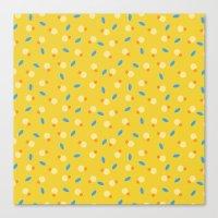 playful yellow Canvas Print