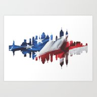 New York Silhouette. Art Print