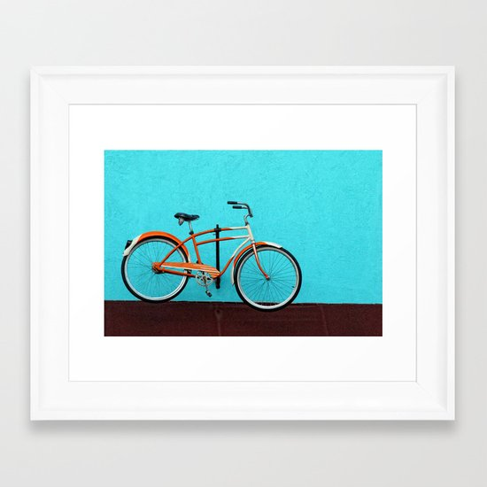 Oak Cliff Bicycle Framed Art Print
