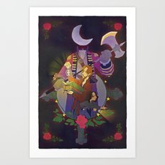 Sleepy Hollow - Abbie and Crane Art Print
