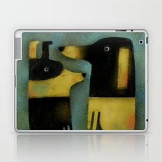YELLOW AND BLACK HOUNDS Laptop & iPad Skin