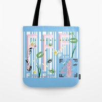 Four Freedoms Barcode Tote Bag