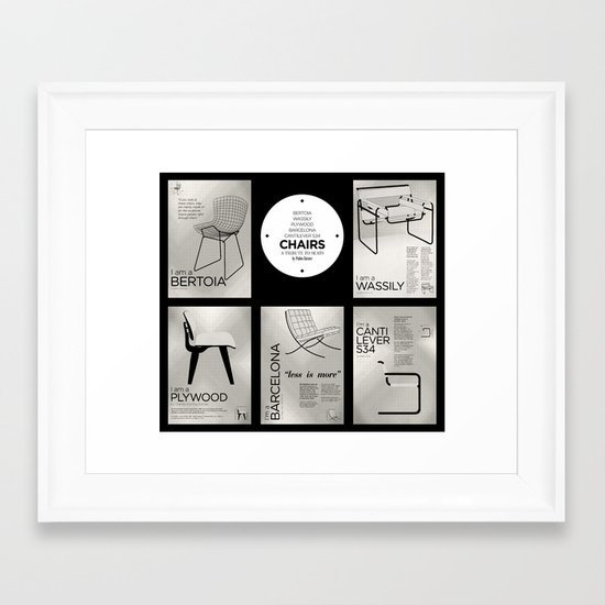 CHAIRS - A tribute to seats (special edition) Framed Art Print