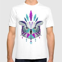 owl king Mens Fitted Tee White SMALL