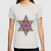 Star Of David Womens Fitted Tee Silver SMALL