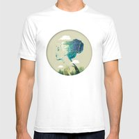 Geo Forest Mens Fitted Tee White SMALL