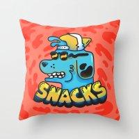 Snacks Dawg Throw Pillow