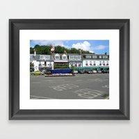 Shops In Town Framed Art Print