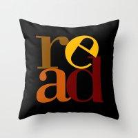 read love Throw Pillow