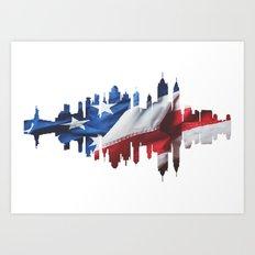 New York Silhouette. Art Print